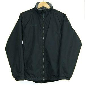Columbia Black Jacket Full Zipper Pockets Warm S